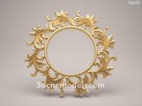 (651) Mirror Frame -3d STL model for CNC
