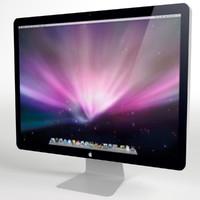 3d model apple 24 led display