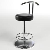 pbr uv-textured bar stool max