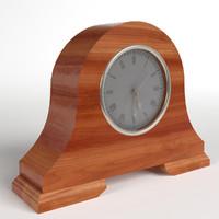 3d model pbr uv-textured fireside clock
