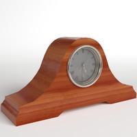 pbr uv-textured fireside clock max
