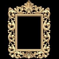 (a-6) Mirror Frame -3d STL model for CNC