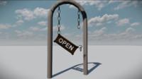 Broken Open Sign