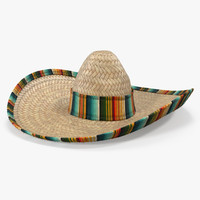 Straw Sombrero with Fur