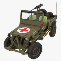 US Army Jeep Willys MB Ambulance Rigged
