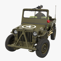 US Army Jeep Willys MB Rigged