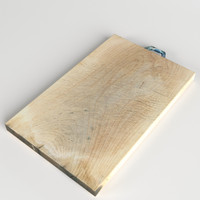 max archviz wooden cutting board