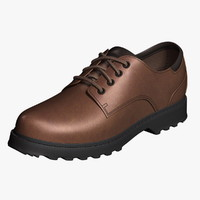 Oxford Shoes Dark Brown Leather