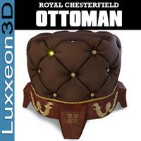ottoman hassock tuffet 3d max