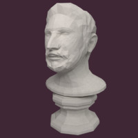 Man Bust Low Poly
