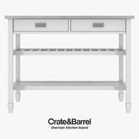 Crate & Barrel - Sheridan Kitchen Island