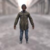 Afro urban homeless
