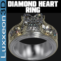 diamond engagement ring 3d obj