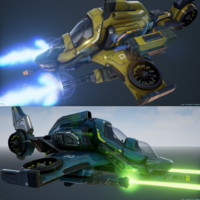 Scout Ships - Five Variations and FXs