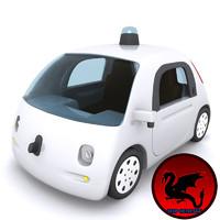 google car 3d max