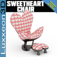 chair sweetheart 3d model