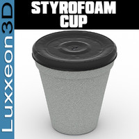 free styrofoam cup 3d model