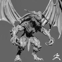 Demon Creature Zbrush