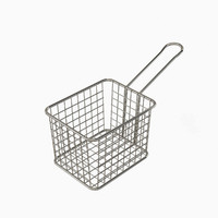 Waffle Grid Mini Fryer Basket Stainless Steel Small 1 count box