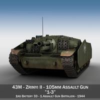 43M Zrinyi II - Hungarian Assault Gun - 1rd Battery 13