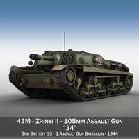 43M Zrinyi II - Hungarian Assault Gun - 3rd Battery 34