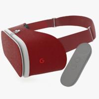 Google Daydream View VR Crimson