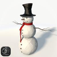 Snowman low poly