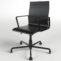 office chair easily uv 3d model