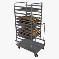 Mobile bakery pastry racks