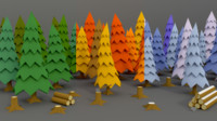 Stylized Trees Pack 01