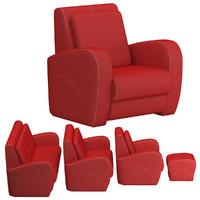sofa set 09 dxf