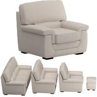 sofa set 07 3d model