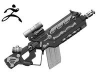 Sci-fi weapon Zbrush