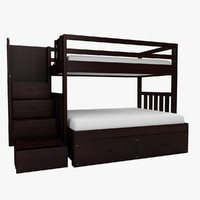 Cascade Twin over Full Bunk Bed with storage