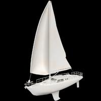 sail boat regatta 3d max