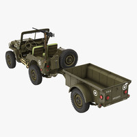 Willys Jeep MB 44 with Trailer