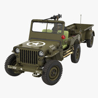Willys Jeep MB 44 with Trailer Rigged