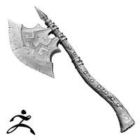 Barbarian Axe Zbrush