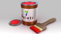 Paint tin and brush
