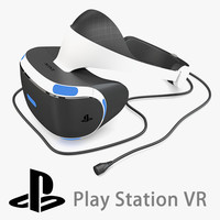 sony playstation vr headset 3d max