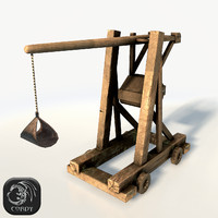 Trebuchet low poly