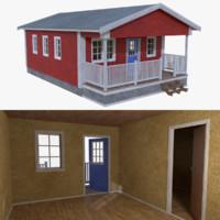 Scandinavian cabin one with interior full