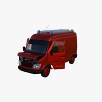 mini truck interior 3d obj