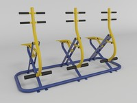 Outdoor fitness gym equipment(1)
