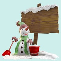 snowman in front signage 2