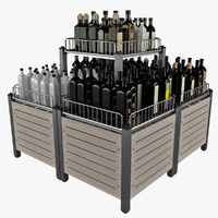 Market Display Stand For Bottle