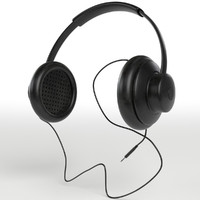 hi-fi headphones 3d max