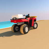 VRTX Lifeguard Rescue ATV Low poly