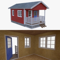 Scandinavian cabin two with interior full
