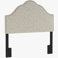 PU5477 Glam Upholstered Arch Headboard